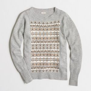 J Crew Fair Isle Front Sweater